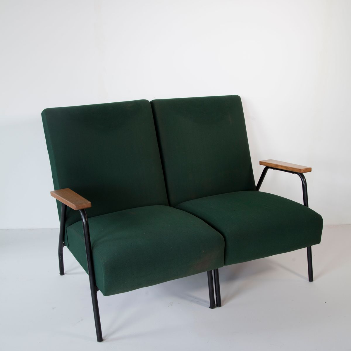 Vintage armchairs by pierre guariche for meurop 1967 set for 2 armchairs for sale