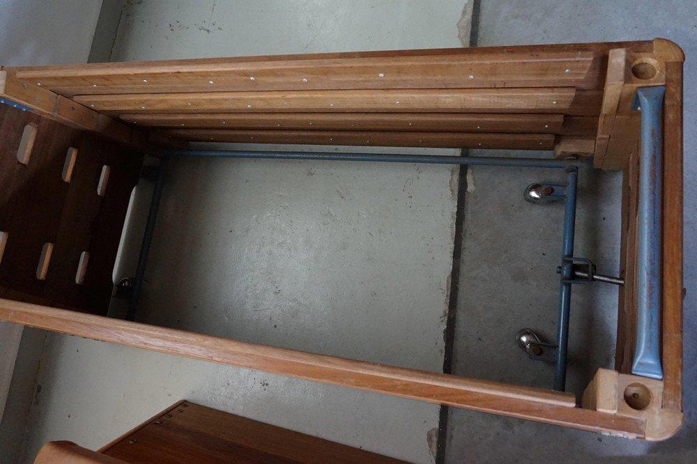 holz turnbank mit leder oberteil 1940er bei pamono kaufen. Black Bedroom Furniture Sets. Home Design Ideas