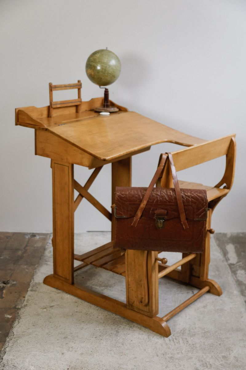 antique children s desk with seat bench for sale at pamono