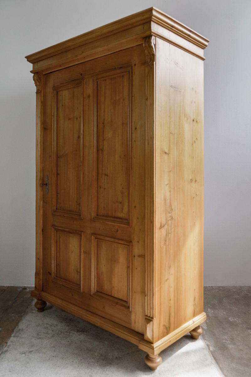 kleiner kleiderschrank mit einer t r 1890er bei pamono kaufen. Black Bedroom Furniture Sets. Home Design Ideas