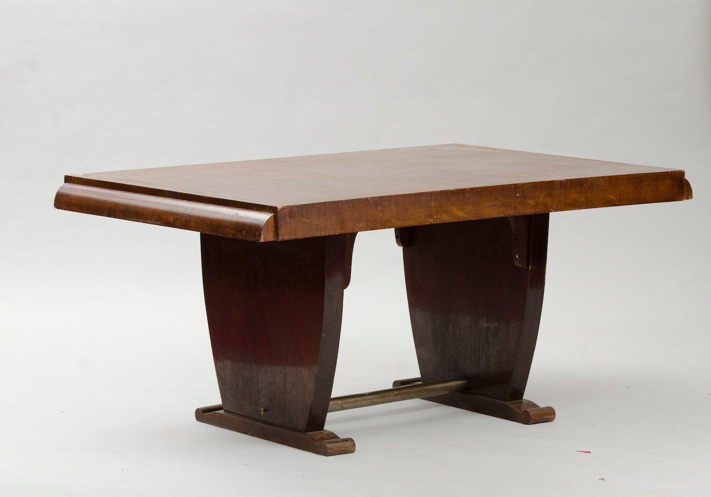 vintage art deco walnuss furnier esstisch bei pamono kaufen. Black Bedroom Furniture Sets. Home Design Ideas