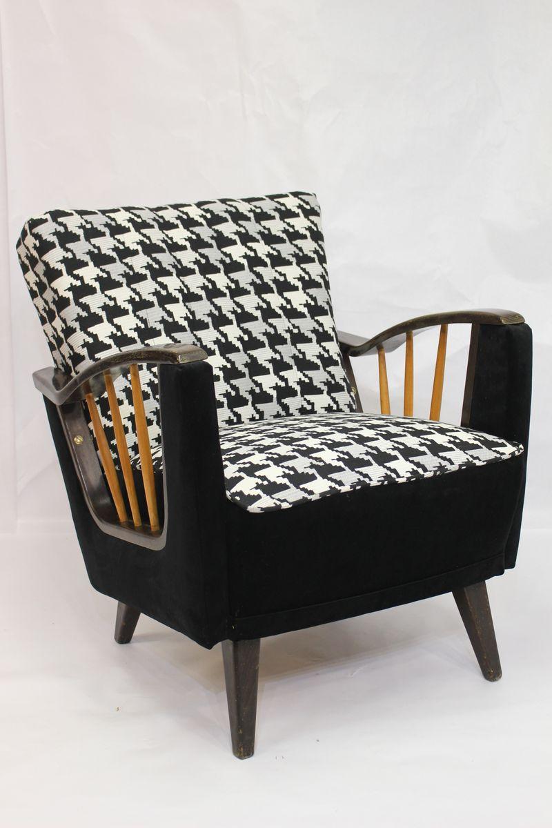sessel mit sprossen an den armlehnen 1950er bei pamono kaufen. Black Bedroom Furniture Sets. Home Design Ideas