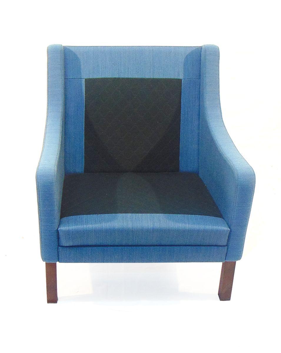 blaues d nisches sofa und sessel set 1960er bei pamono kaufen. Black Bedroom Furniture Sets. Home Design Ideas