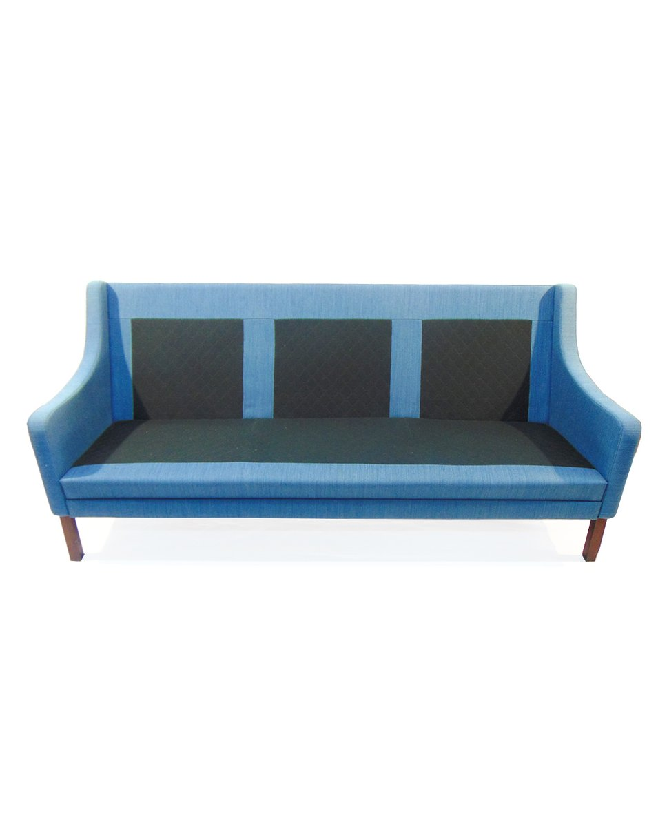 Danish Blue Sofa And Armchair Set 1960s For Sale At Pamono