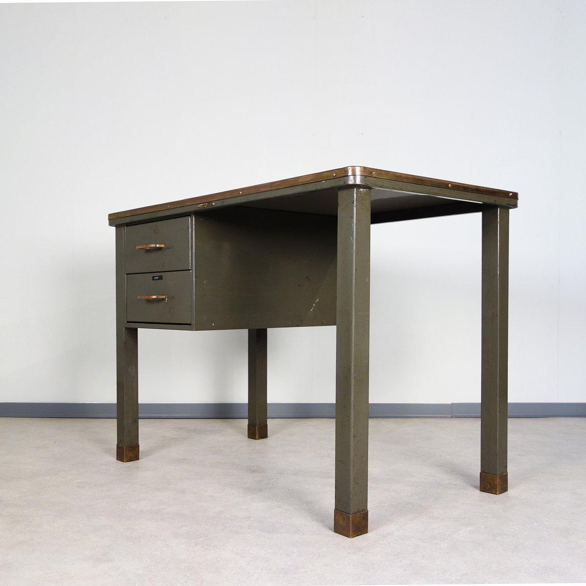 metall schreibtisch von ribeauville demolder 1940er bei pamono kaufen. Black Bedroom Furniture Sets. Home Design Ideas