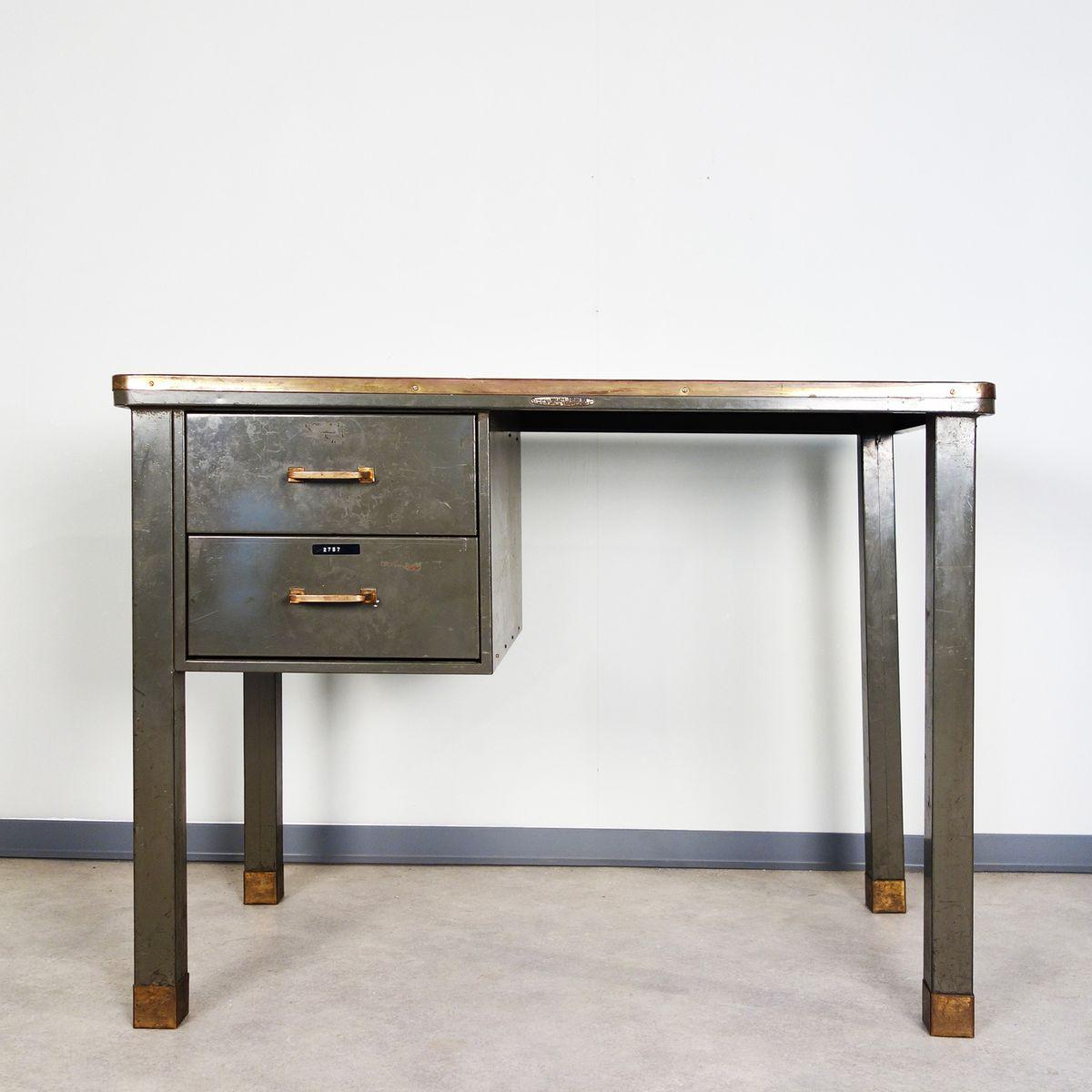 metall schreibtisch von ribeauville demolder 1940er bei. Black Bedroom Furniture Sets. Home Design Ideas
