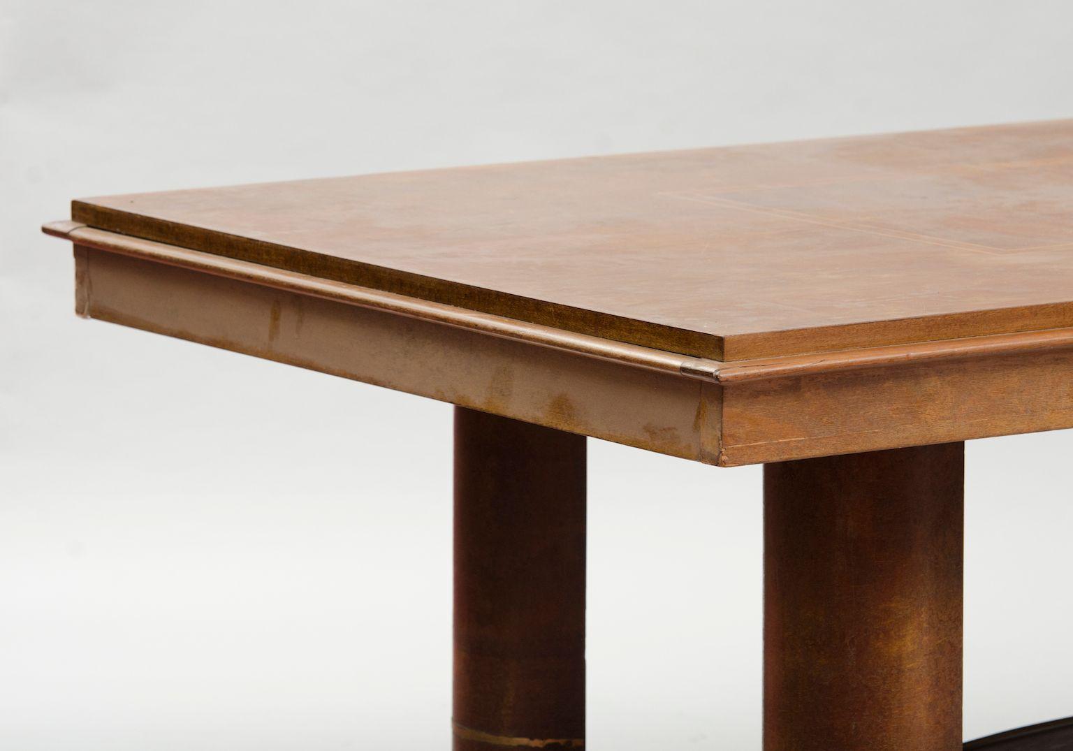 vintage art deco mahagoni furnier esstisch bei pamono kaufen. Black Bedroom Furniture Sets. Home Design Ideas