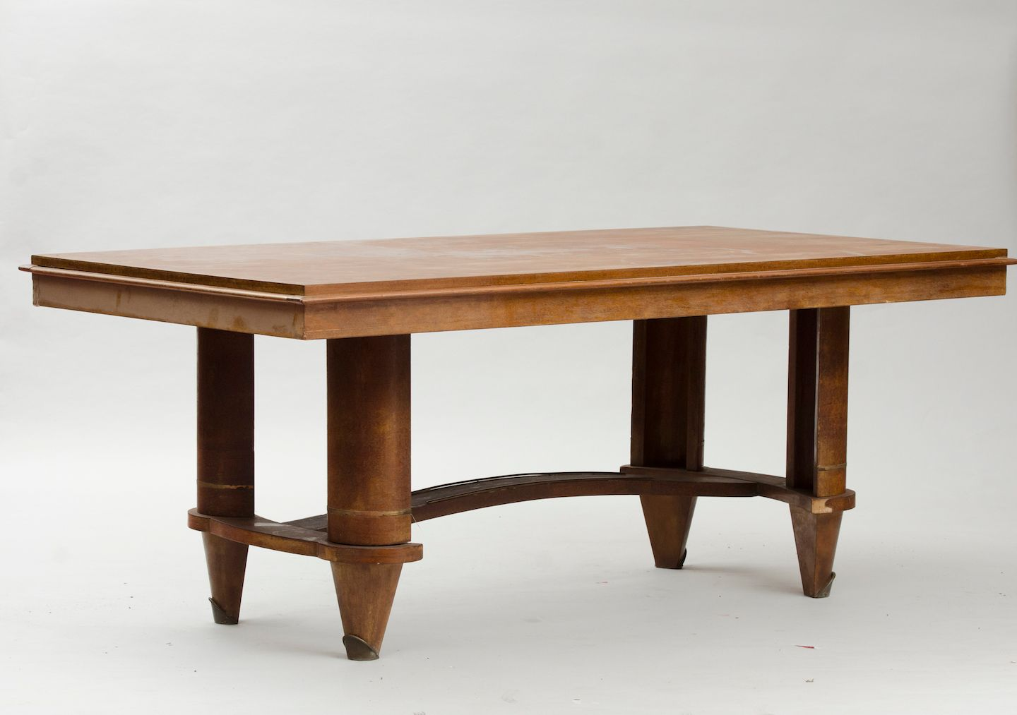 Vintage Mahogany Veneered Art Deco Dining Table
