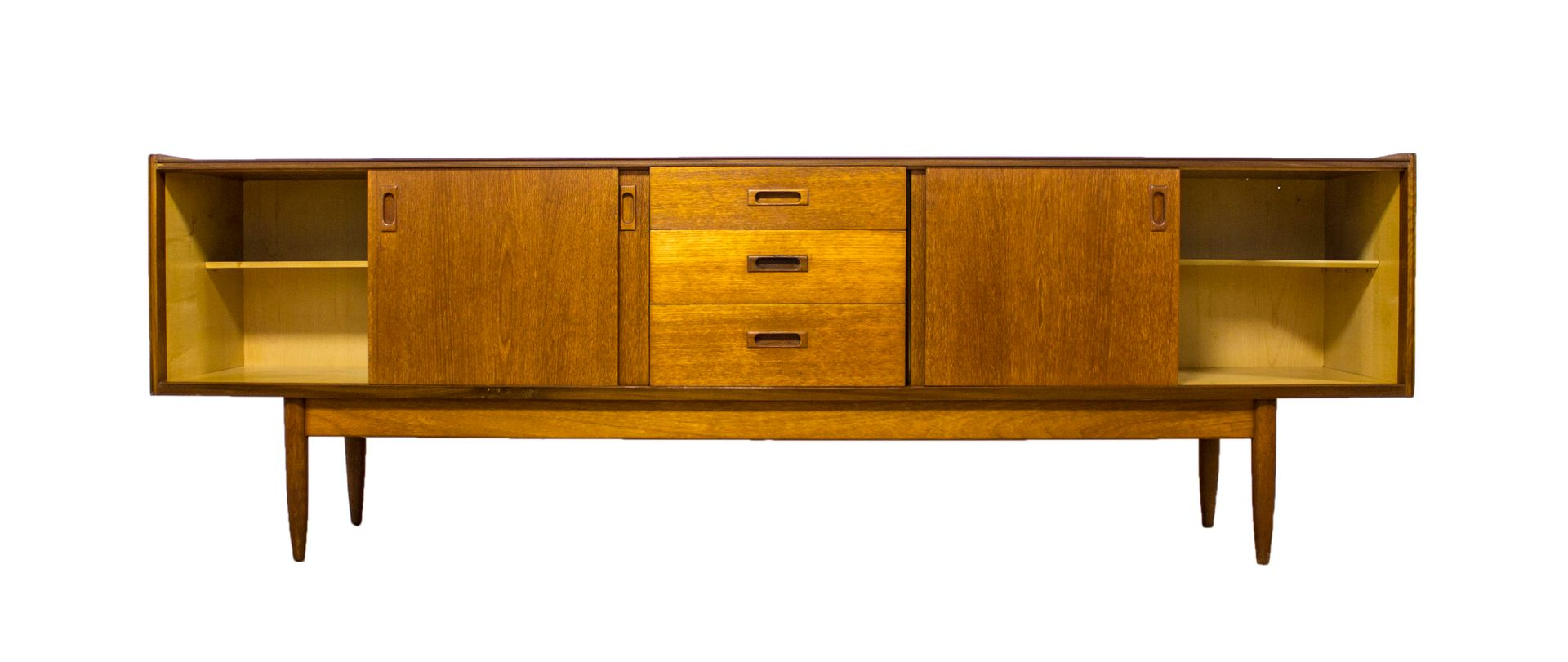 d nisches vintage teak sideboard bei pamono kaufen. Black Bedroom Furniture Sets. Home Design Ideas