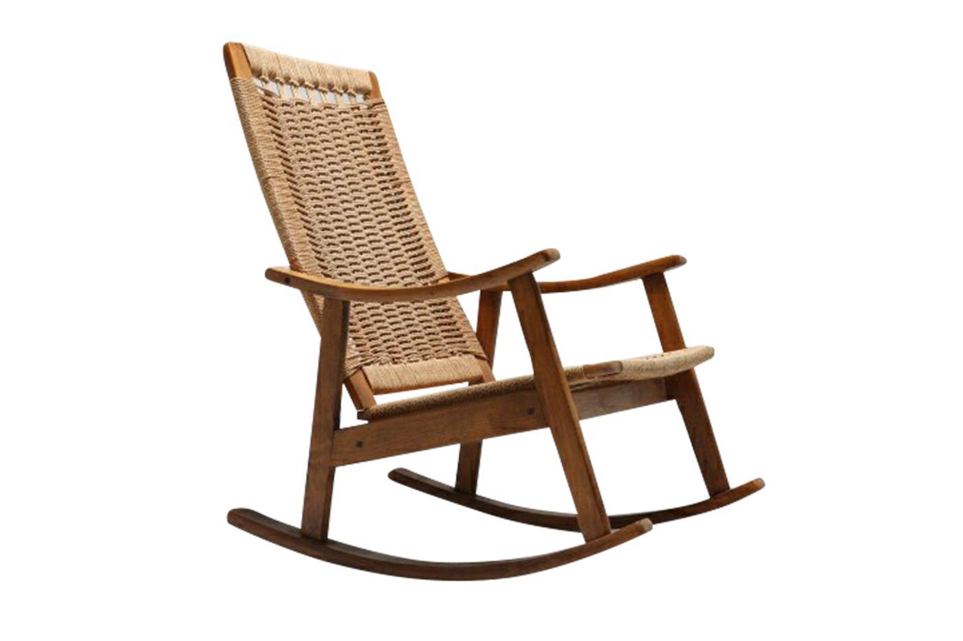 mid century schaukelstuhl bei pamono kaufen. Black Bedroom Furniture Sets. Home Design Ideas