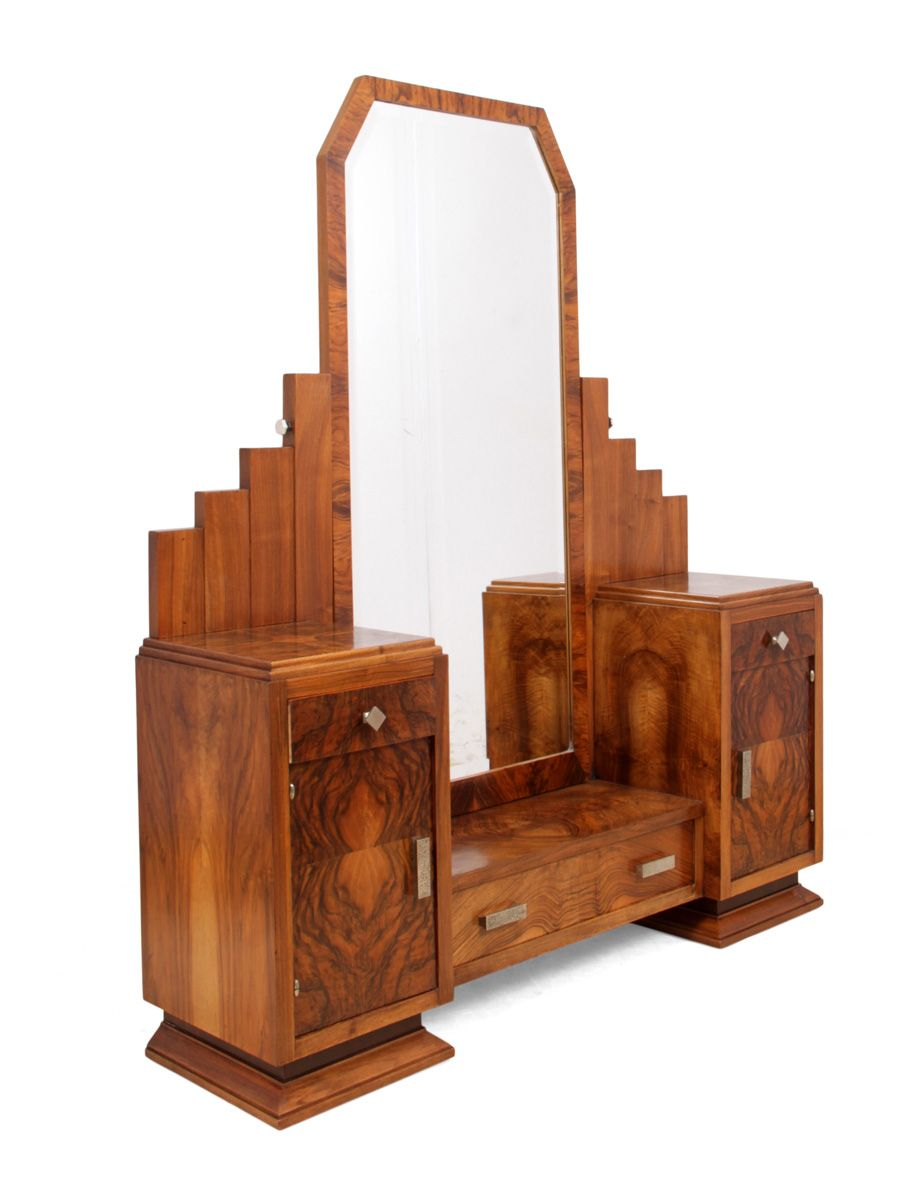 French Art Deco Dressing Table By Henry Geneste 1920s For
