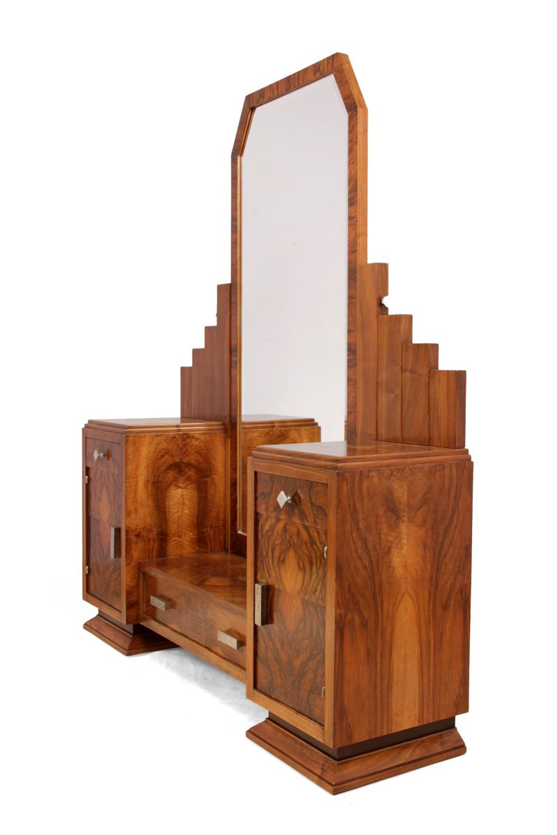 french art deco dressing table by henry geneste 1920s for sale at pamono. Black Bedroom Furniture Sets. Home Design Ideas