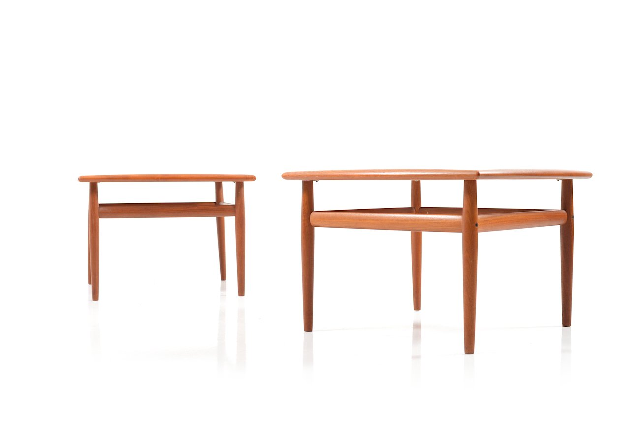 Square Coffee Tables In Teak By Grete Jalk For Glostrup Set Of 2 For Sale At Pamono