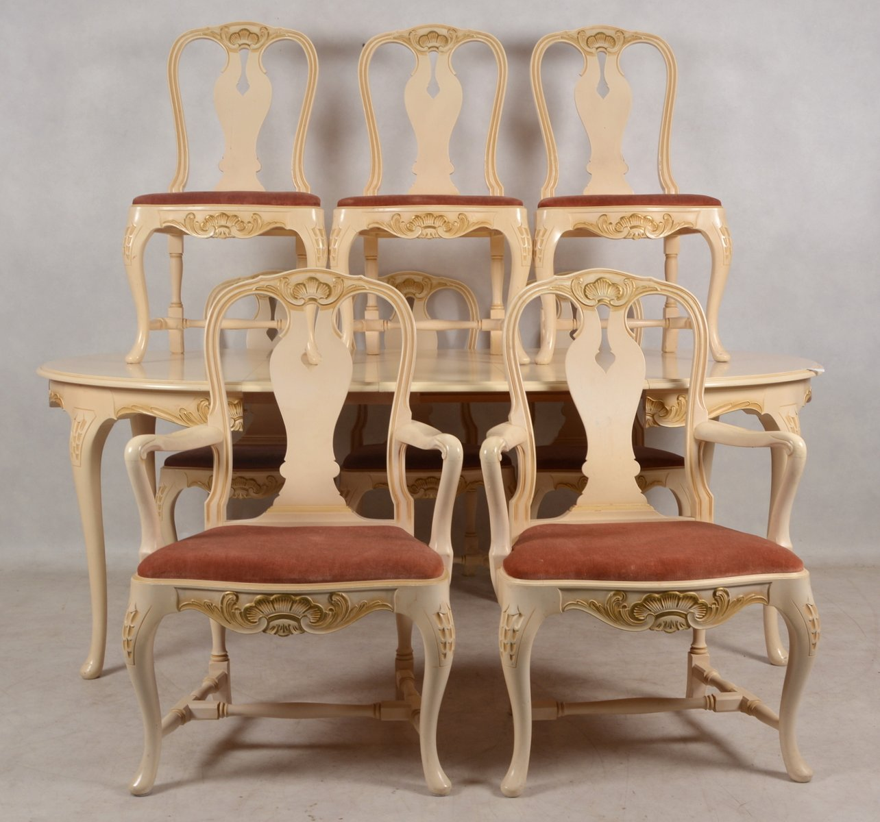 Antique dining room set 1900s for sale at pamono for Pictures of antique dining room sets