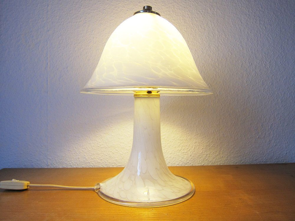 mid century murano glass mushroom lamp for sale at pamono. Black Bedroom Furniture Sets. Home Design Ideas