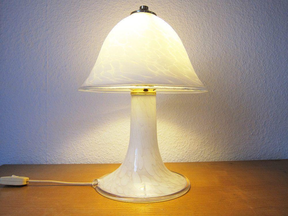 mid century murano glass mushroom lamp for sale at pamono. Black Bedroom Furniture Sets. Home Design Ideas