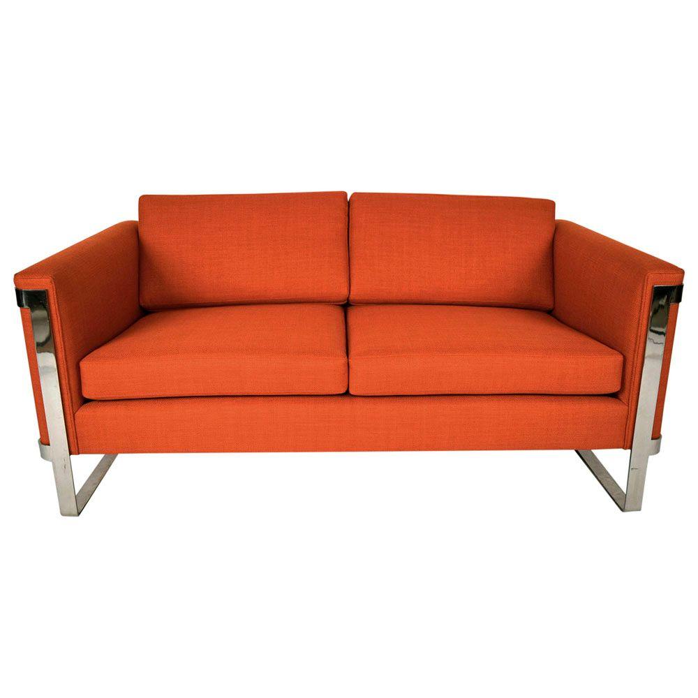 vintage floating sofa von milo baughman 1970er bei pamono. Black Bedroom Furniture Sets. Home Design Ideas