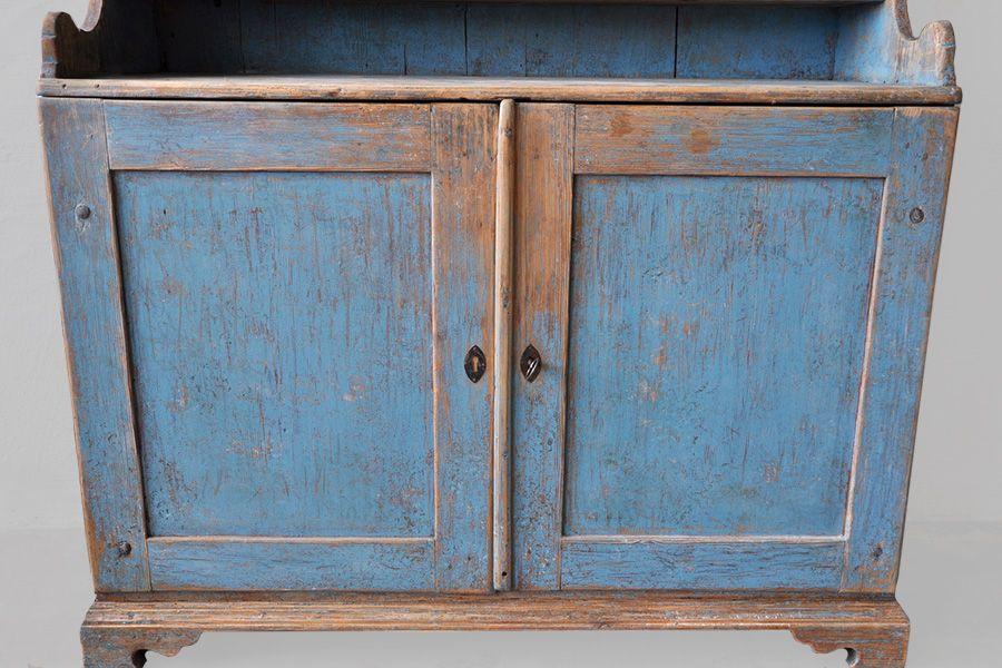 Vintage Swedish Blue Kitchen Cabinet 6 636800 Price Per Piece