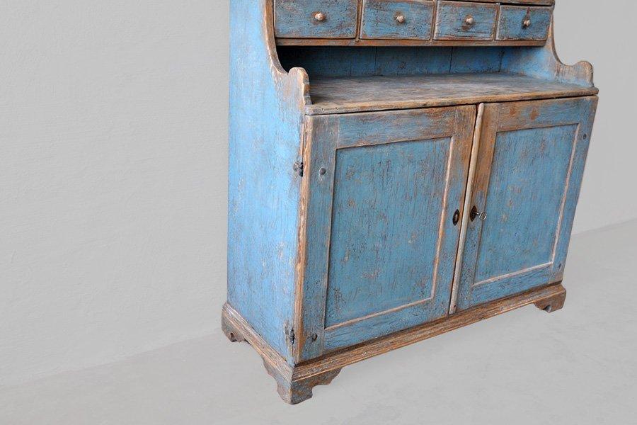 blauer schwedischer vintage k chenschrank bei pamono kaufen. Black Bedroom Furniture Sets. Home Design Ideas