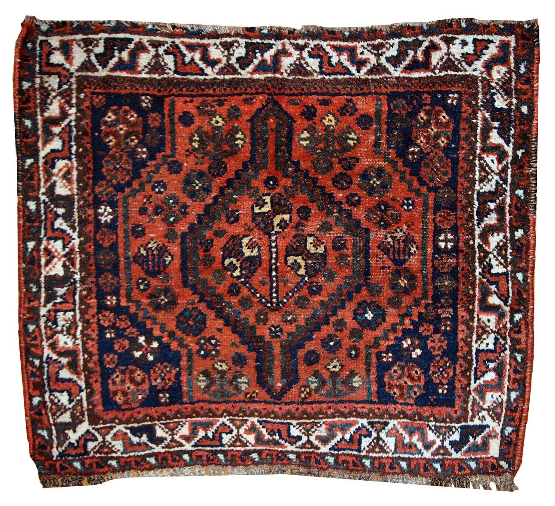 Persischer teppich  Handgeknüpfter Persischer Vintage Shiraz Teppich bei Pamono kaufen