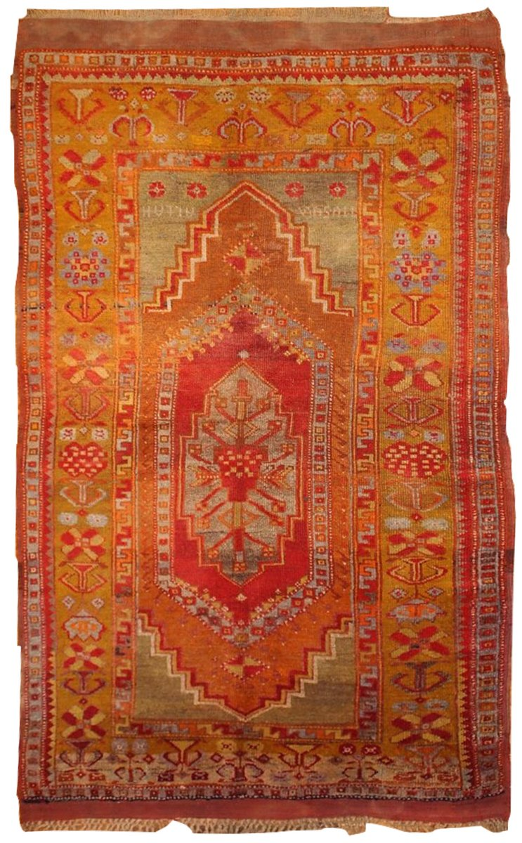 Antique Handmade Turkish Anatolian Rug For Sale At Pamono
