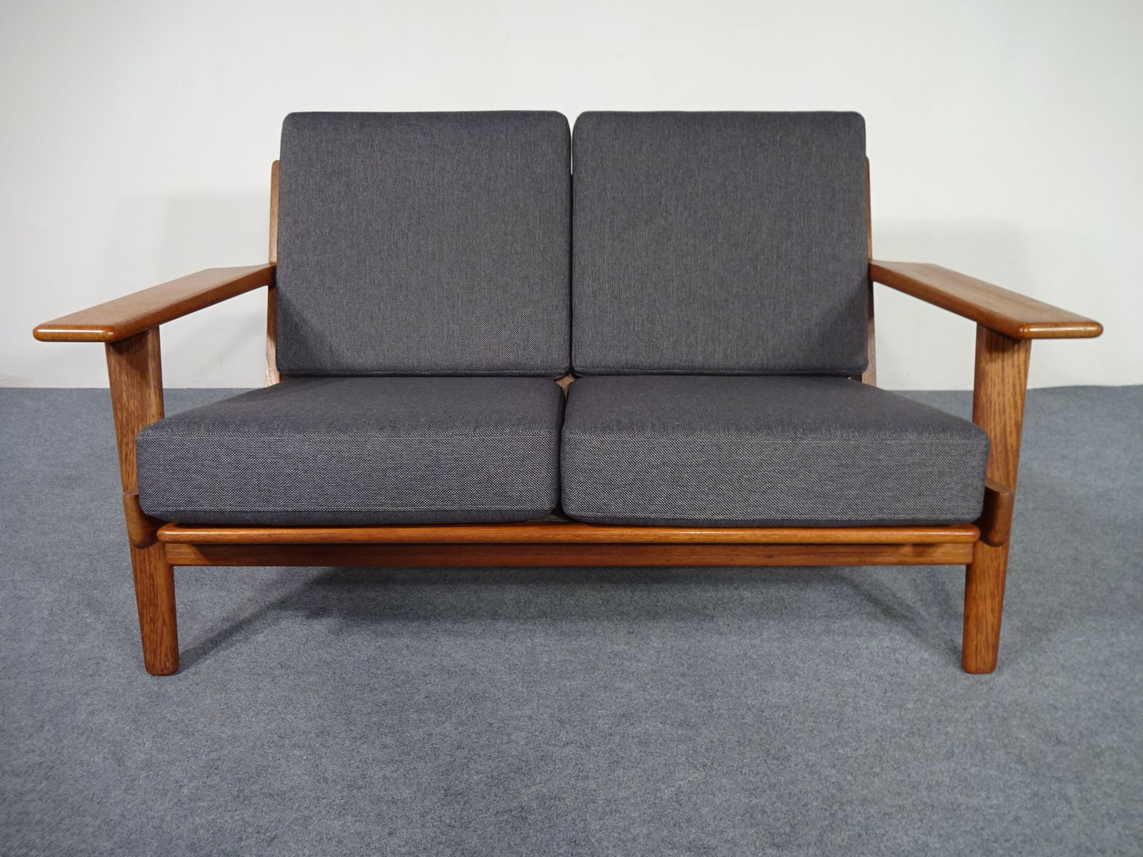 GE 290 Teak 2 Seater Sofa by Hans J Wegner for Getama 1960s for