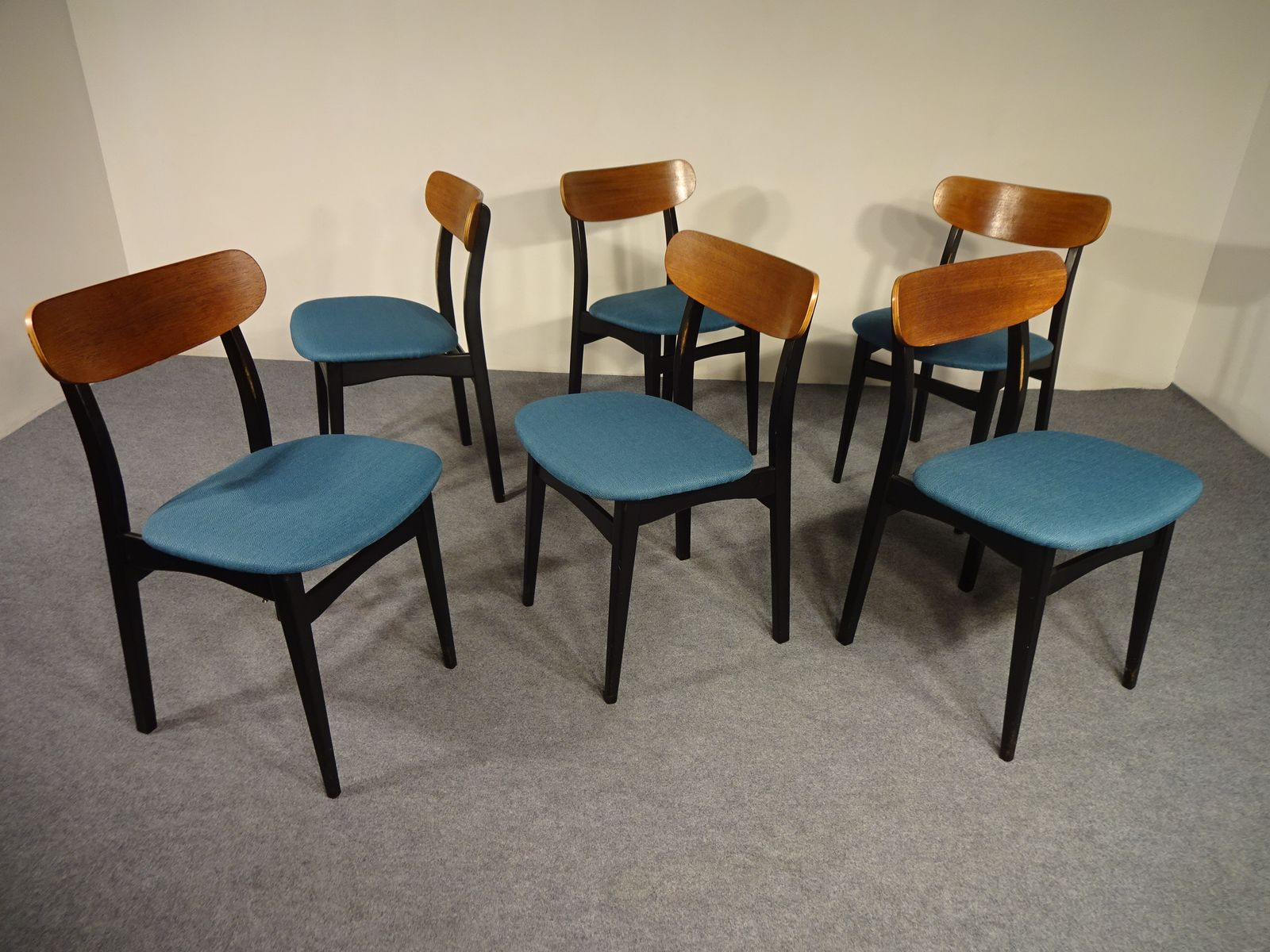 Dining chairs from asko 1960s set of 6 for sale at pamono for 6 kitchen chairs for sale