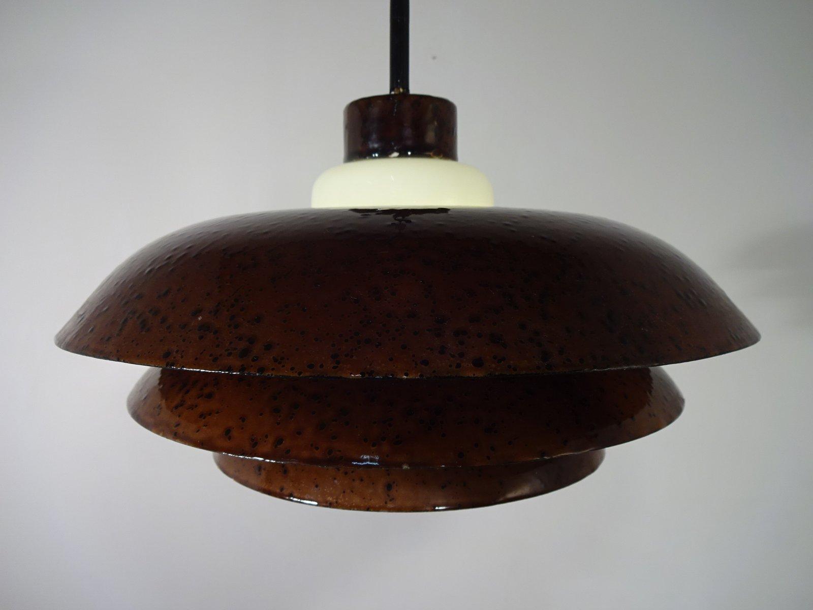 Kupfer emaillierte lampen 1940er 2er set bei pamono kaufen for Lampen niederlande