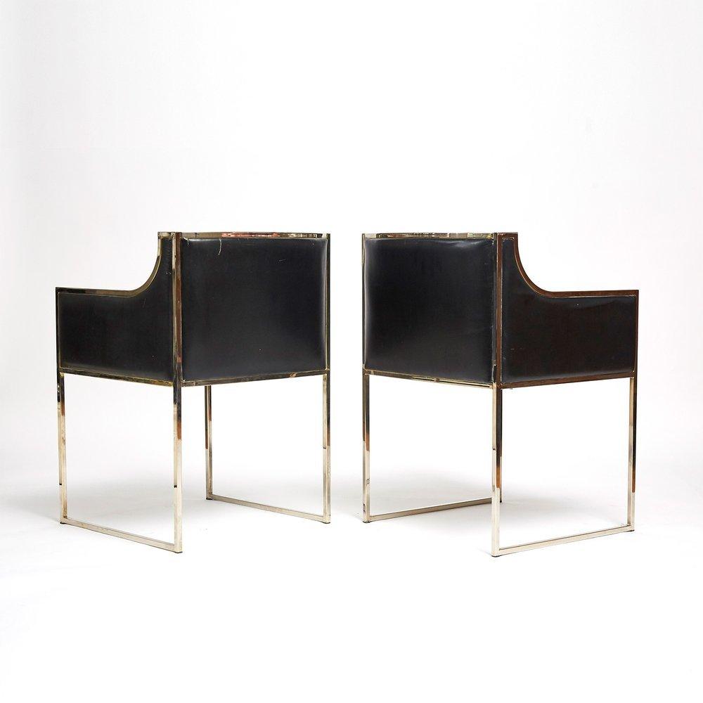 italienische vintage st hle 1970er 2er set bei pamono kaufen. Black Bedroom Furniture Sets. Home Design Ideas