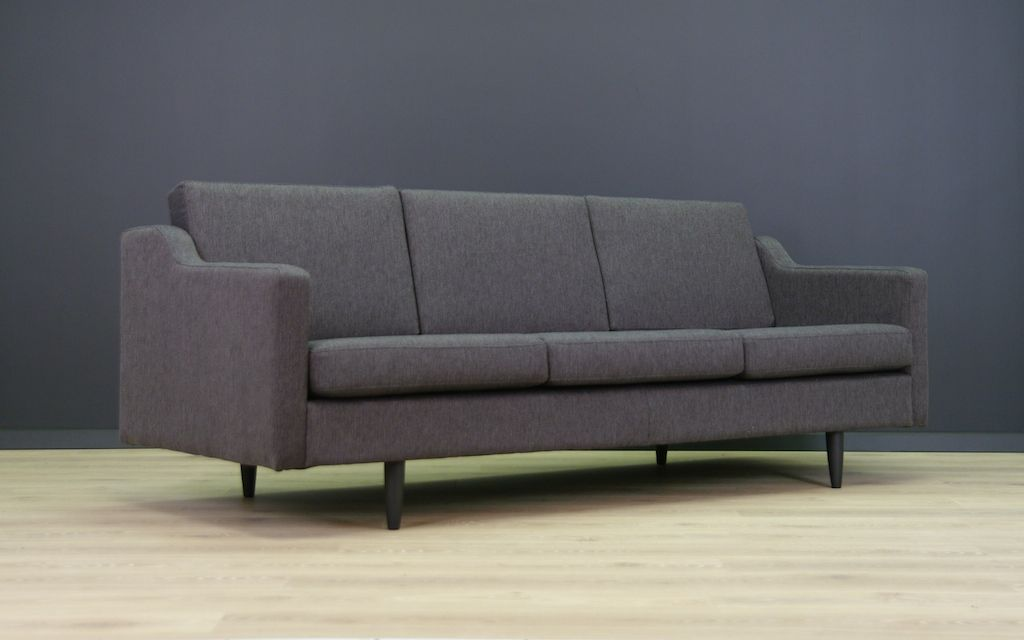 d nisches vintage sofa in dunkelgrau bei pamono kaufen. Black Bedroom Furniture Sets. Home Design Ideas