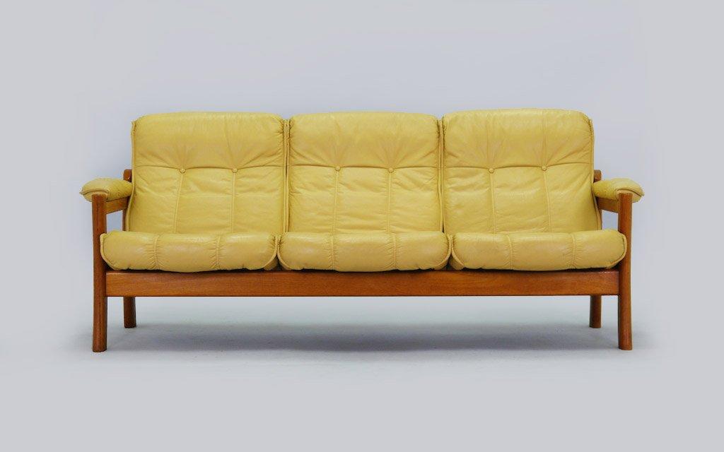 Schlafsofa gelb  Dänisches Mid-Century Sofa in Gelb bei Pamono kaufen