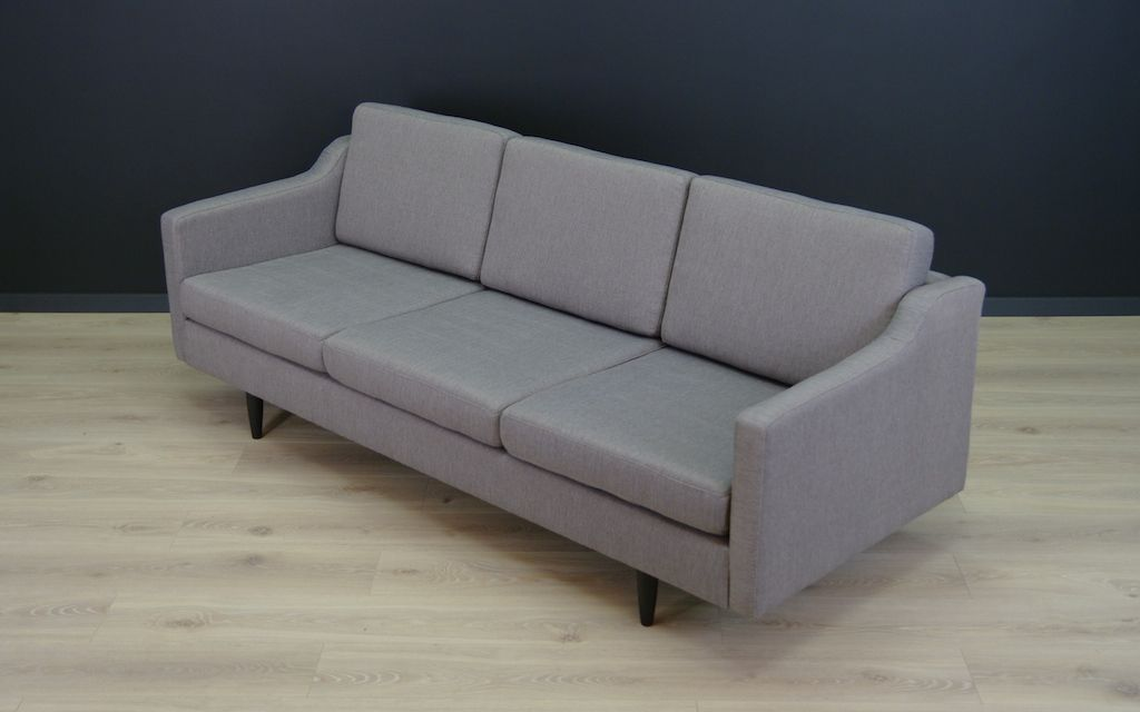 Vintage danish grey sofa for sale at pamono for Grey sofas for sale