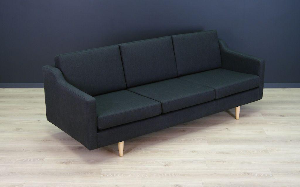 schwarzes d nisches vintage sofa bei pamono kaufen. Black Bedroom Furniture Sets. Home Design Ideas