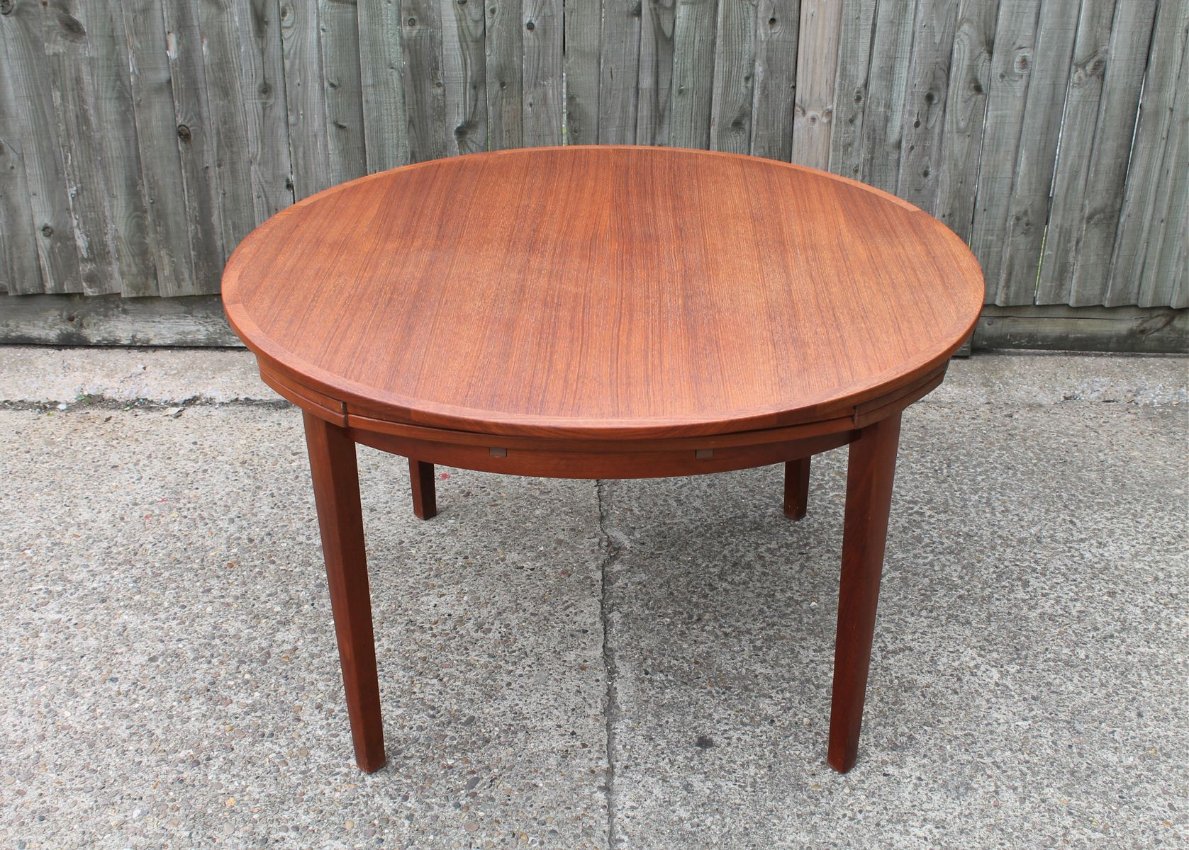 Vintage Flip Flap Lotus Teak Dining Table From Dyrlund