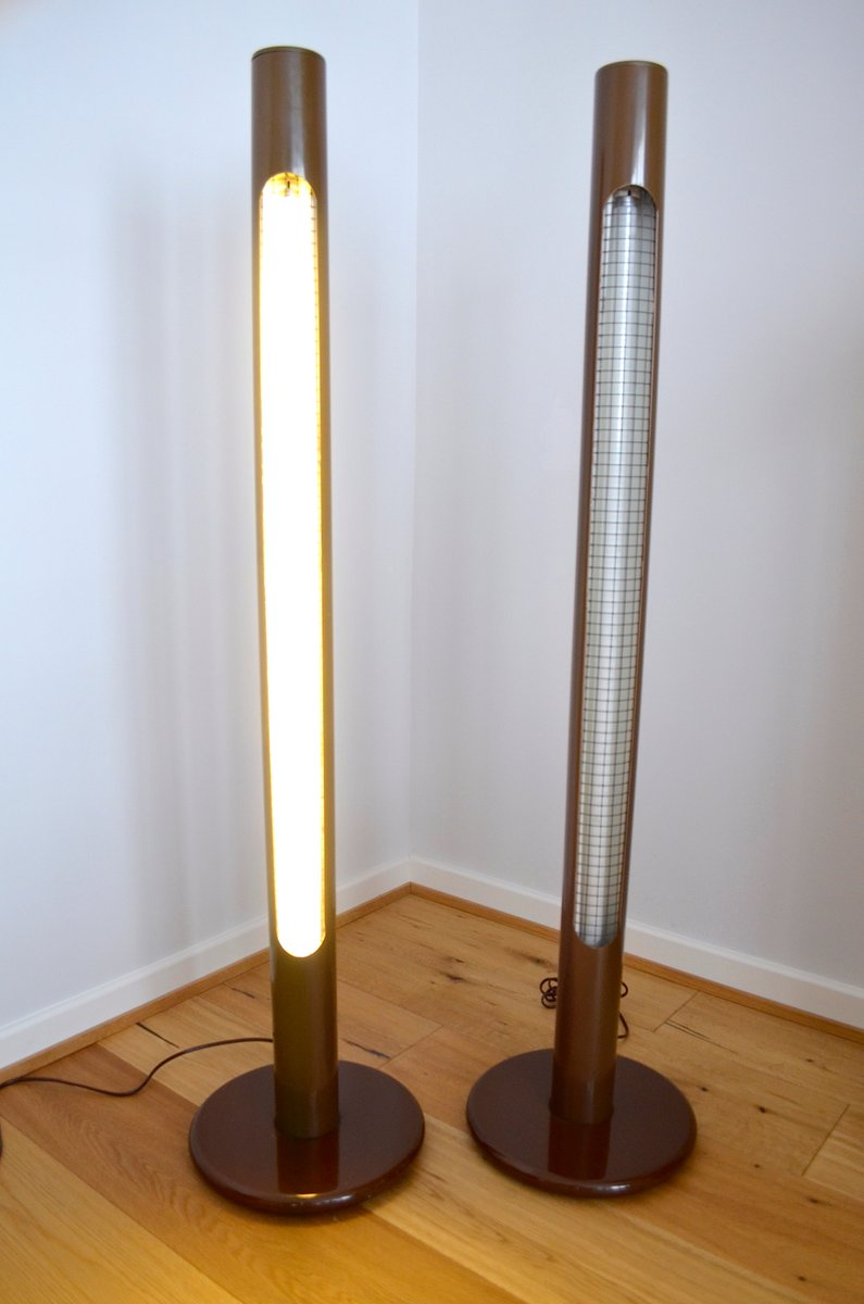 Pop art column floor lamps 1970s set of 2 for sale at pamono for 1970s floor lamps