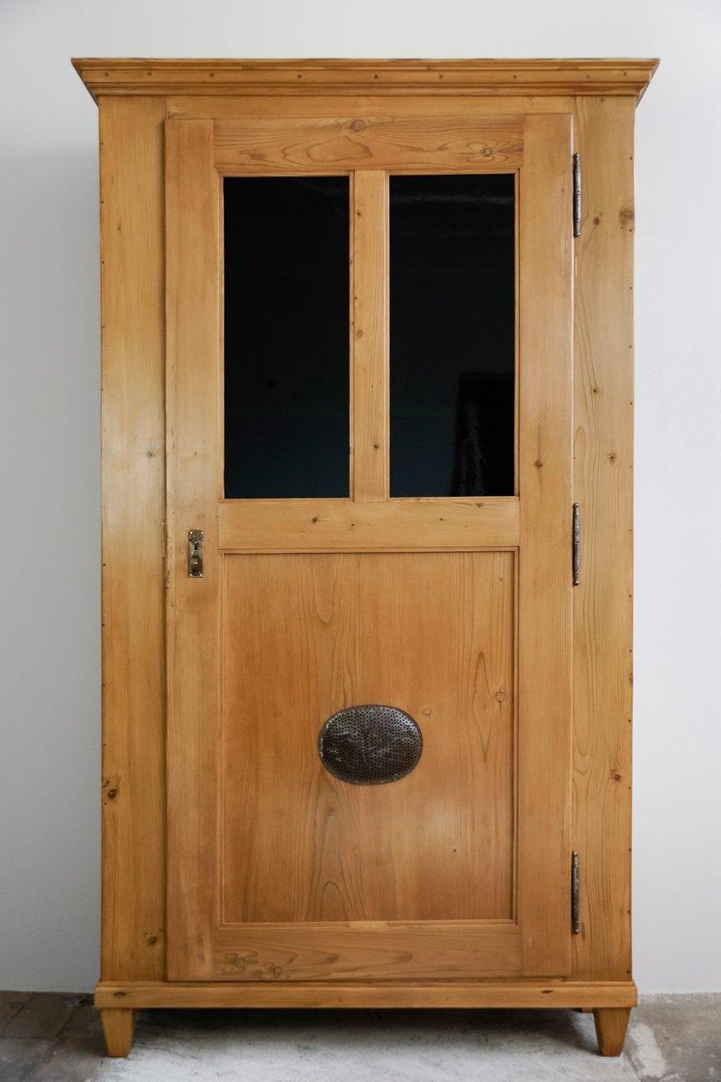 Meuble de rangement de cuisine antique en bois en vente for Meuble de rangement bois