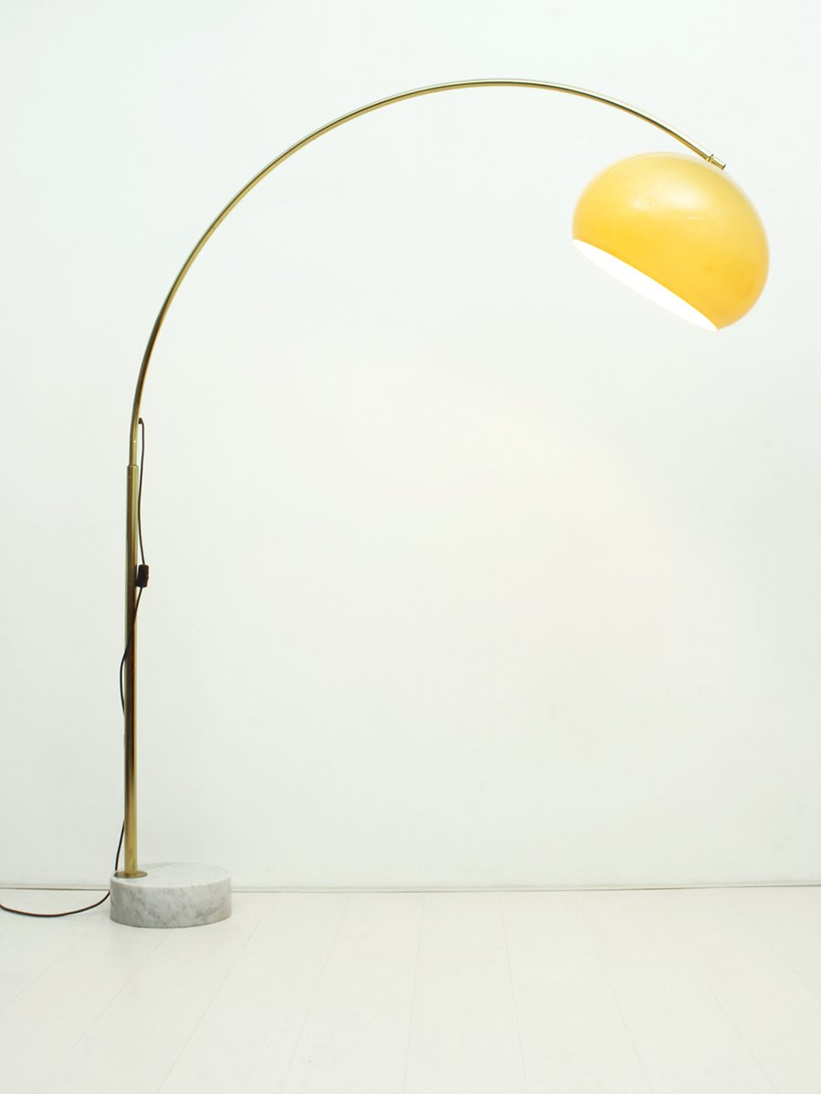 Vintage Arc Floor Lamp With Marble Foot 1960s For Sale At