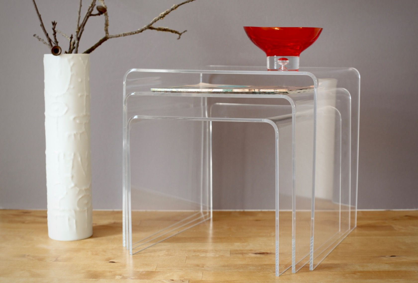 Vintage acrylic nesting tables s for sale at pamono