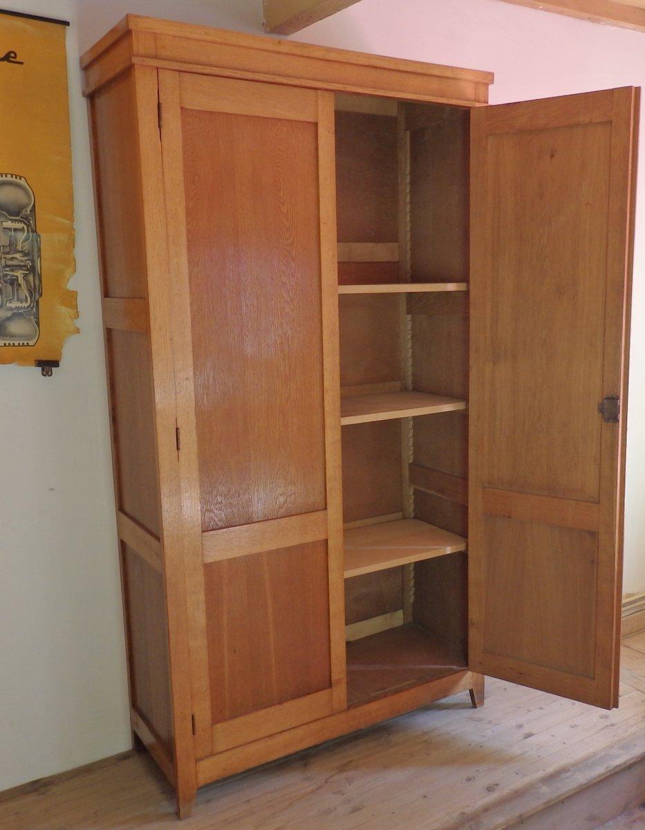franz sischer vintage schulschrank aus holz bei pamono kaufen. Black Bedroom Furniture Sets. Home Design Ideas