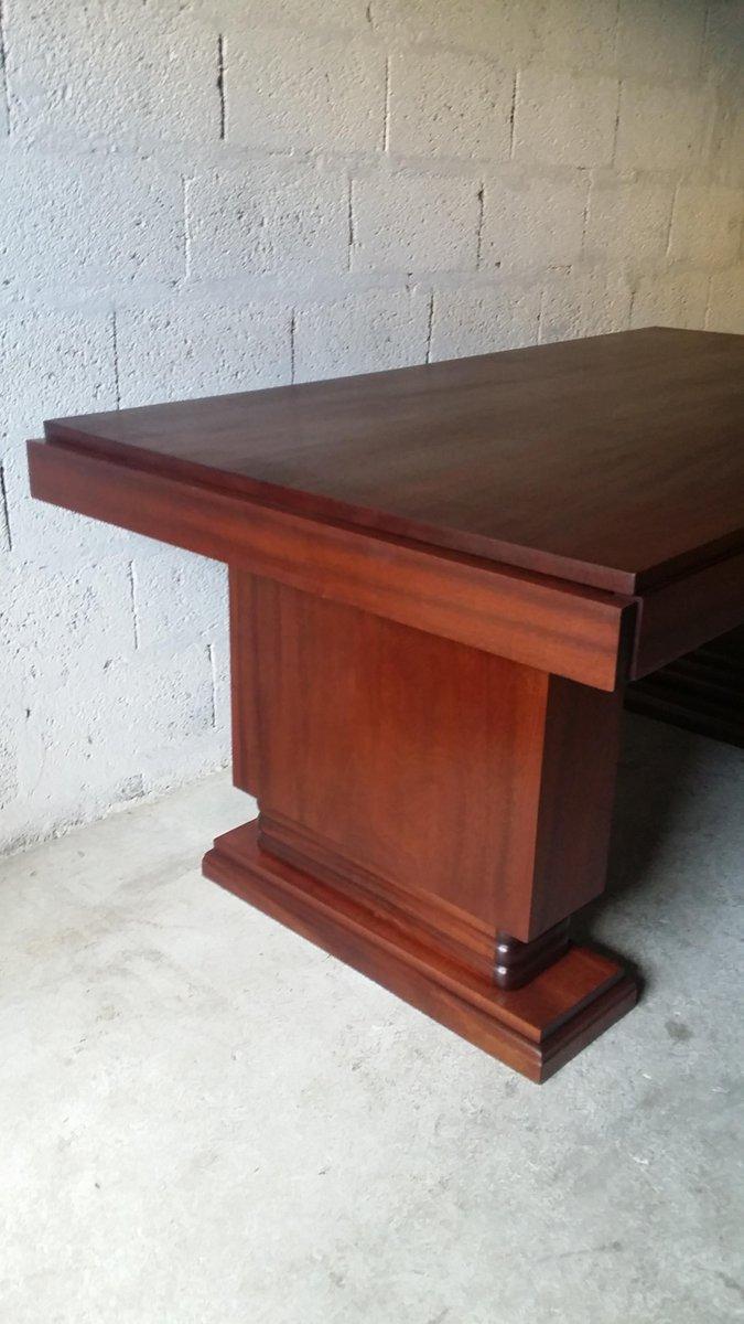 art deco mahagoni esstisch von gaston poisson 1930er bei pamono kaufen. Black Bedroom Furniture Sets. Home Design Ideas