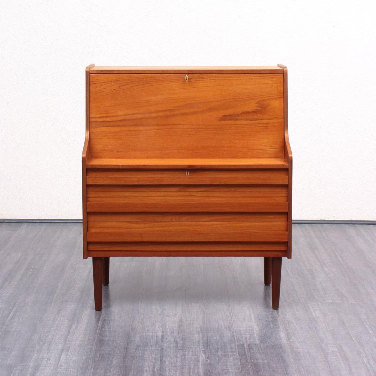 d nischer teak furnier sekret r von rooval 1960er bei. Black Bedroom Furniture Sets. Home Design Ideas