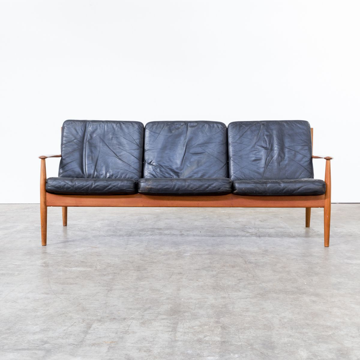Mid Century Three Seater Sofa By Grete Jalk For France S N For Sale At Pamono