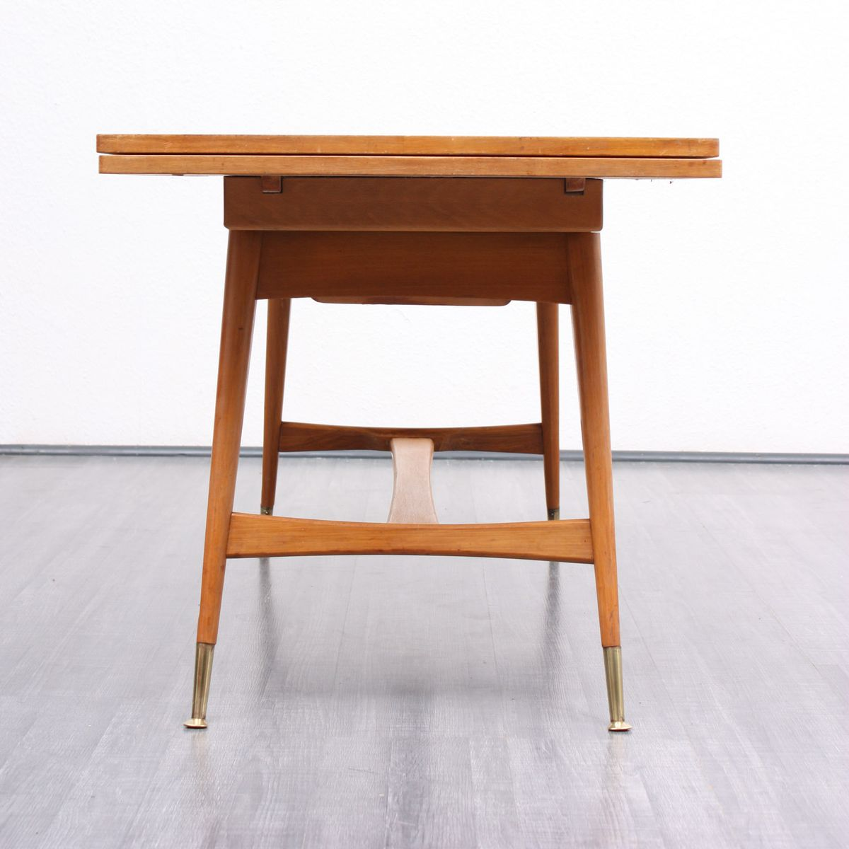 Mid Century Beech Walnut Coffee Or Dining Table For Sale At Pamono
