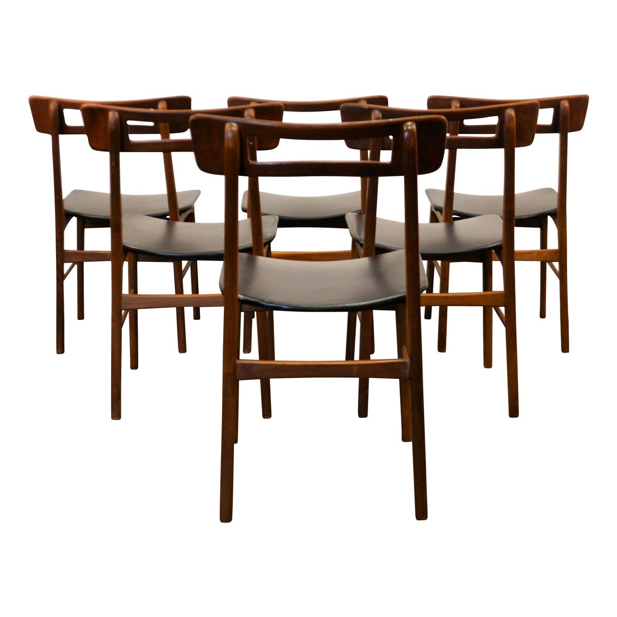 Danish teak dining chairs 1950s set of 6 for sale at pamono for Set of 6 dining chairs
