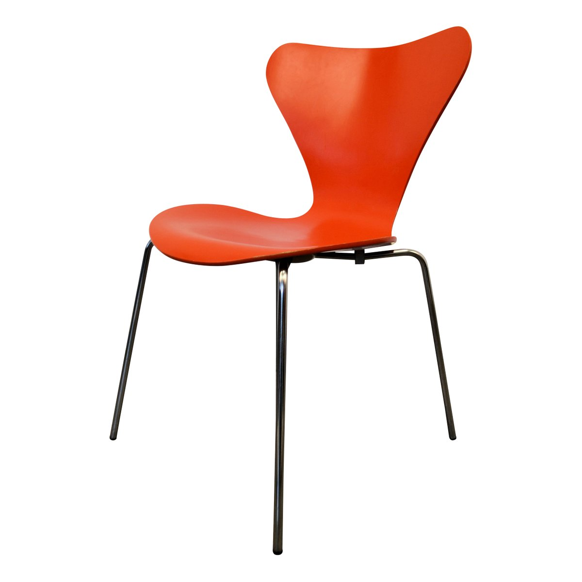 Vintage 3107 Chairs By Arne Jacobsen For Fritz Hansen Set