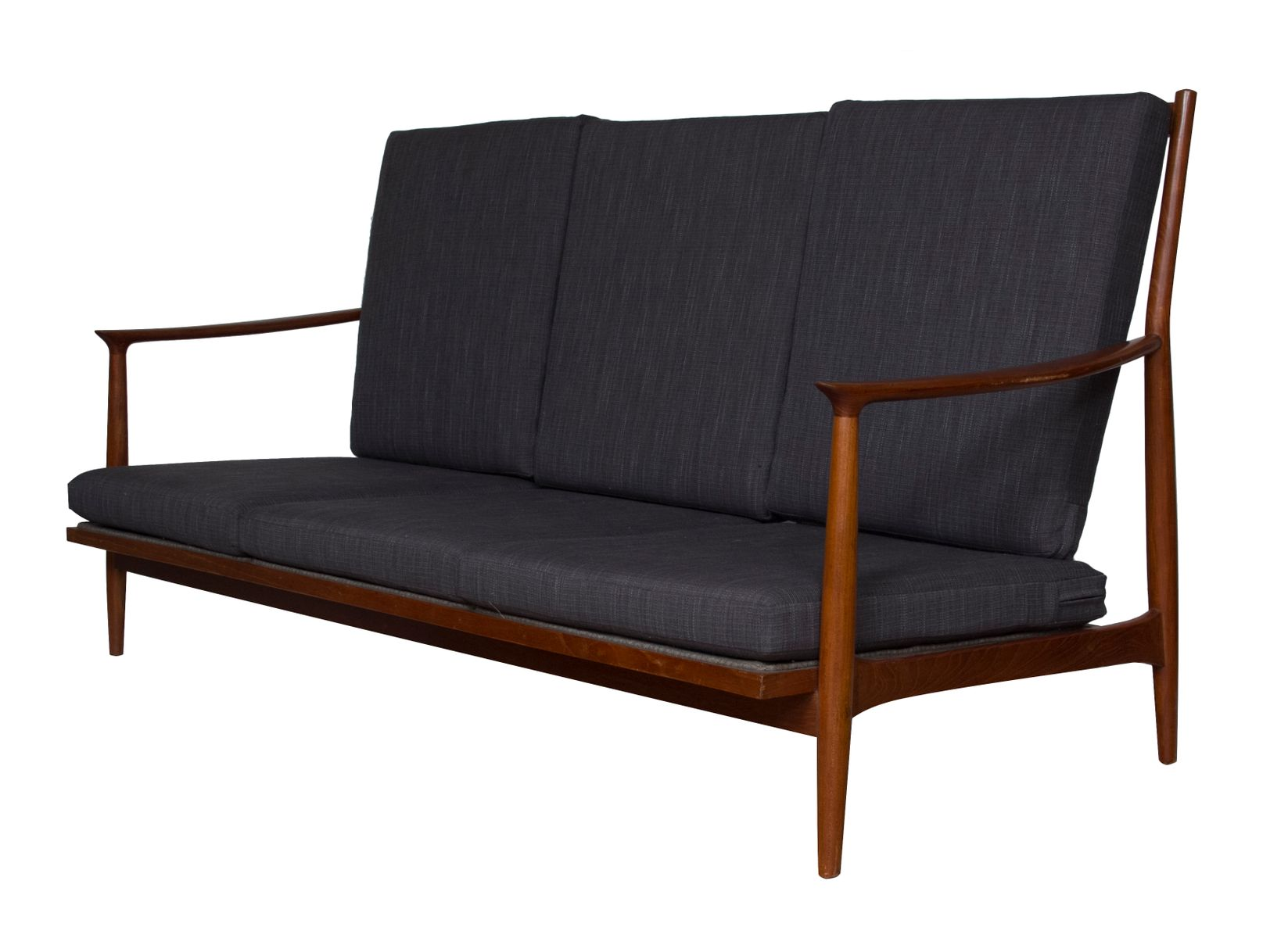 mid century teak sofa for sale at pamono. Black Bedroom Furniture Sets. Home Design Ideas