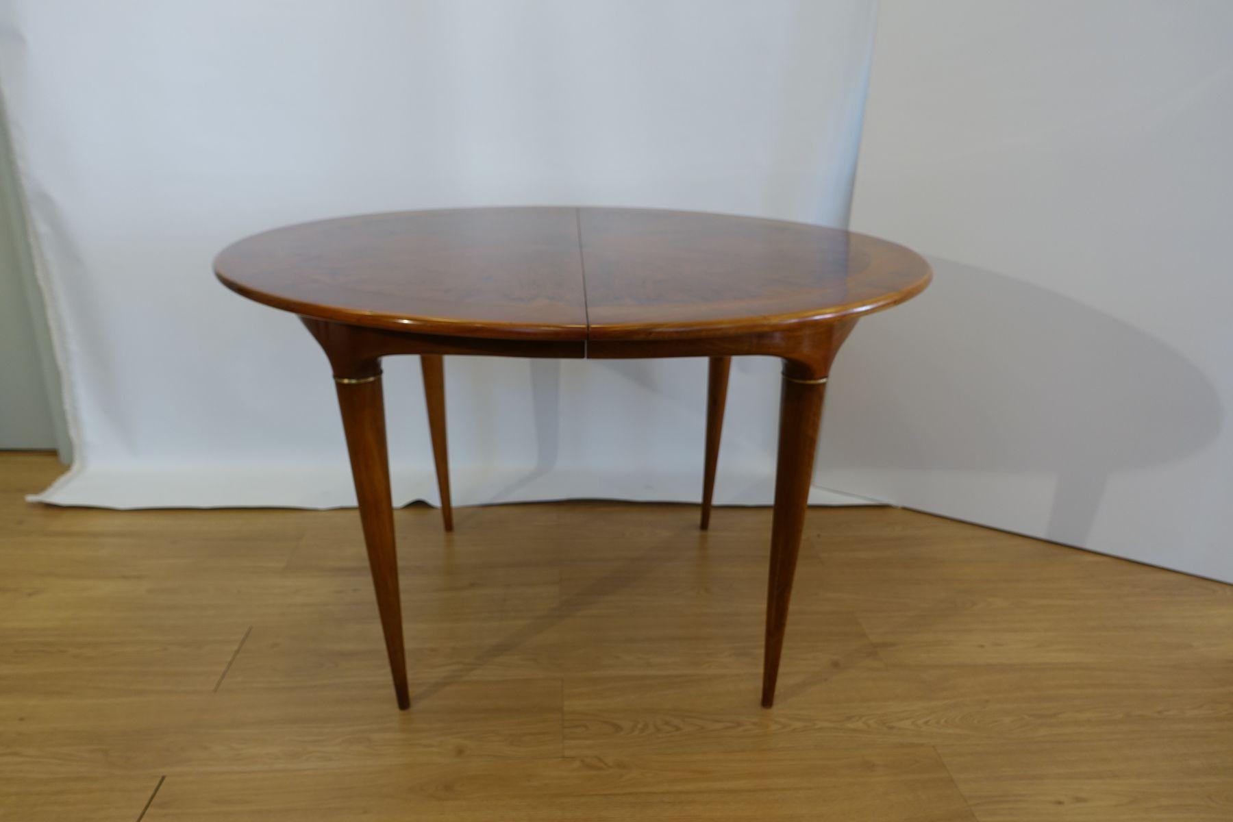 Round walnut dining table - Round Walnut Dining Table By Jos Cruz De Carvalho For Altamira 1950s