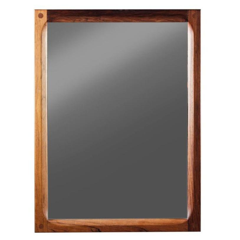 d nischer spiegel mit rahmen aus palisander von aksel. Black Bedroom Furniture Sets. Home Design Ideas