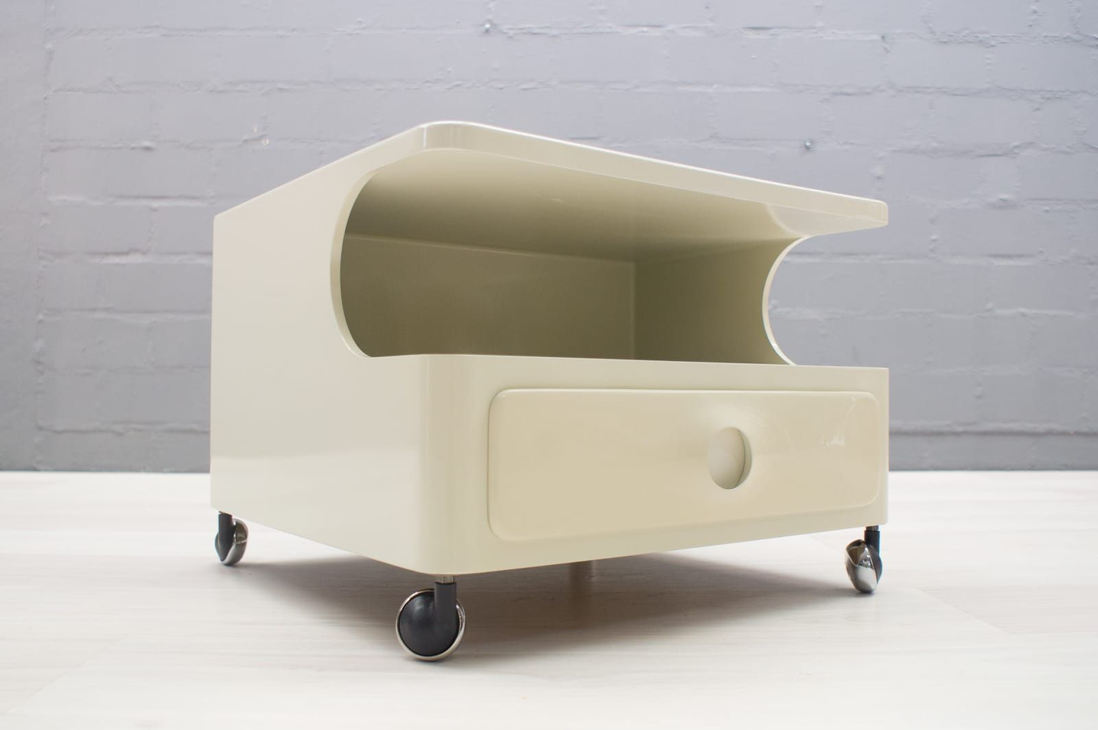 Space Age Furniture Space Age Rolling Container With Drawer From Opal 1960s For Sale