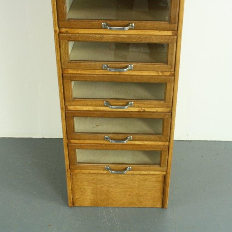 Vintage 8-Drawer Haberdashery Cabinet in Oak for sale at Pamono